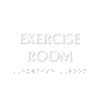 Exercise Room Tactile Touch Braille Door Sign