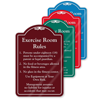 Exercise Room Rules ShowCase Sign