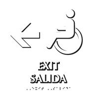 Bilingual Exit, Salida Braille Sign