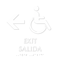 Bilingual Exit, Salida Braille Sign