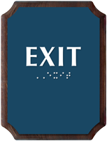 Exit Braille TactileTouch Wood Plaque