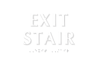 Exit Stair Sign