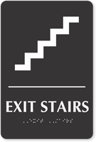Exit Stairs Sign