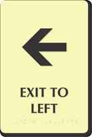Exit To Left Door Sign