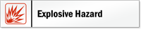 Explosive Hazard Stacking Magnetic Door Sign