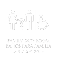 Family Tactile Touch Braille Bilingual Door Sign