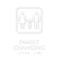 Family Changing TactileTouch™ Braille Sign