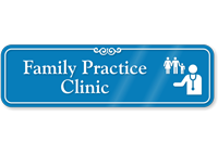 Family Practice Clinic Hospital Showcase Sign