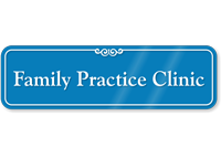Family Practice Clinic Showcase Hospital Sign