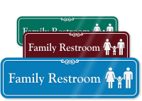 Family Restroom with Graphic ShowCase™ Sign