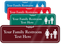 Family Restroom Symbol Sign