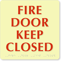 Fire Door Keep Closed Sign