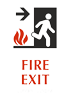 Braille Fire Exit Arrow Sign