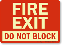 Fire Exit Do Not Block
