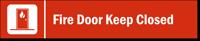 Fire Door Keep Closed Stacking Magnetic Door Sign