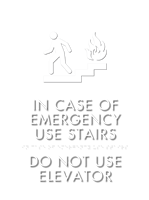 In Case Of Fire... w/Symbol