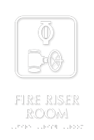 TactileTouch™ Fire Riser Room Sign with Braille