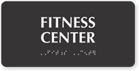 Fitness Center Tactile Touch Braille Sign