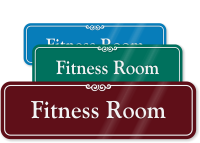 Fitness Room ShowCase Wall Sign
