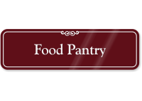 Food Pantry Showcase Wall Sign
