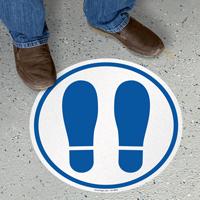 Footprints Symbol SlipSafe Floor Sign