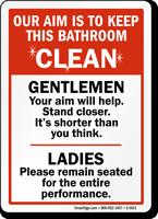 Keep Bathroom Clean Sign