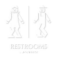 Bow legged Unisex Bathroom Humor Sign