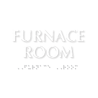 Furnace Room ADA TactileTouch™ Sign with Braille