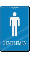 Gentlemen Restroom ShowCase Wall Sign
