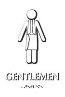 Gentlemen Towel Braille Restroom Sign