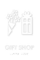 Gift Shop TactileTouch Braille Sign