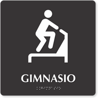 Gimnasio Spanish TactileTouch Braille Sign