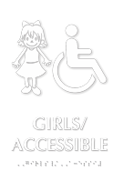 Girls Accessible Room Braille Sign