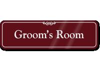 Groom's Room ShowCase Wall Sign