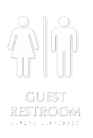 Guest Restroom TactileTouch Braille Sign
