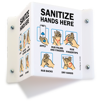 Hand Sanitizer Available Here Projecting Sign