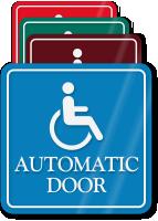 Handicap Automatic Door ShowCase Wall Sign