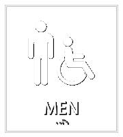 Men Bathroom, Men/Handicapped Sign
