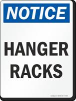 Hanger Racks OSHA Notice Sign