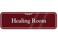 Healing Room Showcase Wall Sign