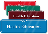 Health Education Showcase Hospital Sign
