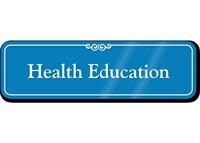 Health Education Showcase Hospital Sign