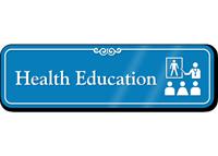 Health Education Hospital Showcase Sign