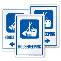 Housekeeping Sign with Symbol
