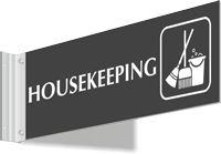 Housekeeping Corridor Projecting Sign