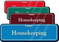 Housekeeping Showcase Hospital Sign