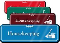 Housekeeping Hospital Showcase Sign