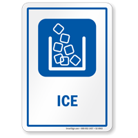 Ice Sign with Ice Cubes Symbol