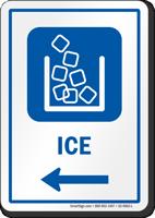 Ice Left Arrow Hospital Sign