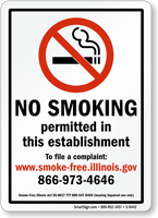 No Smoking Permitted In This Establishment Sign